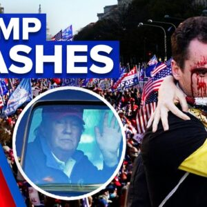 Trump supporters clash with protesters on election result | 9 News Australia