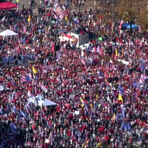 WATCH: Trump supporters rally in the streets of Washington, D.C. for 'million MAGA march'