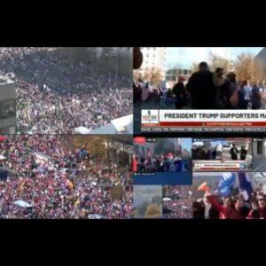 Awesome God 2020 USA Election President Donald J Trump Million MAGA March Washington DC LIVE Protest