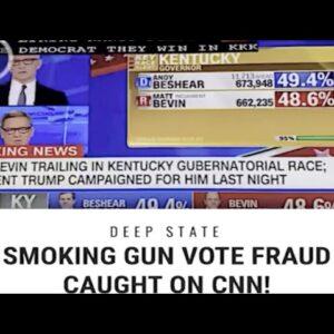 SMOKING GUN⏰VOTE FRAUD Caught Live On CNN