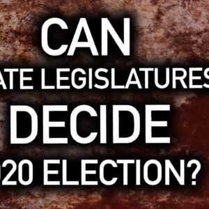 State Legislatures Have Constitutional Authority to Decide the Election!