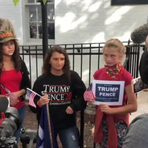 """Trump Supporters Hold """"Stop The Steal"""" Rally Outside RNC"""