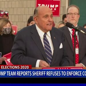 Trump Team reports sheriff refuses to enforce court order