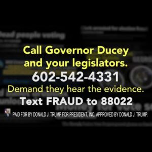 ARIZONA! Contact Governor Ducey and your legislators today.
