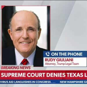 """""""We're Not Finished. Believe Me"""" Rudy Giuliani Responds To SCOTUS Texas Ruling, Explains Next Steps"""