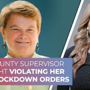 LA County Supervisor caught violating her own lockdown orders