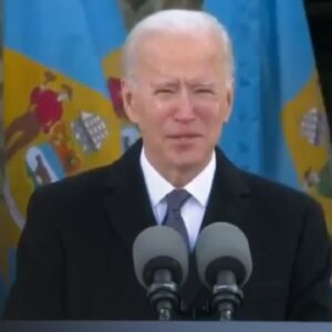 Biden Immediately Starts Bawling His Eyes Out in Speech Before Inauguration