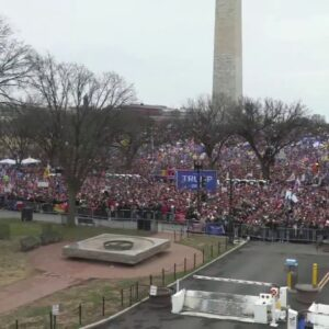 AMAZING! AERIAL SHOT OF TRUMP RALLY IN DC 1/6/21