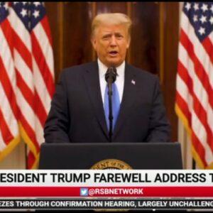 President Trump Gives Farewell Speech