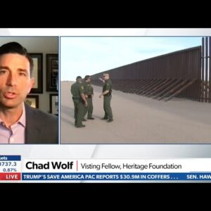Why Joe Biden Was Wrong to Halt Construction of the Border Wall | Chad Wolf on Newsmax TV