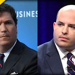 CNN's Brian Stelter Has Public MELTDOWN Going After Tucker Carlson