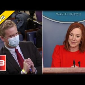 Peter Doocy from FOX Confronts Psaki after Biden Snubs him from Solo Press Conference