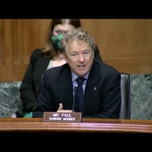 Dr. Rand Paul Opening Remarks for the Small Business Committee Hearing - March 24, 2021