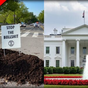 CRAPPY SITUATION at the White House as Leftists Dump Piles of Manure to Protest Biden's Climate Plan