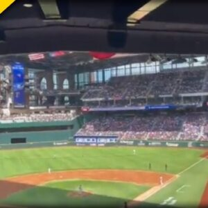 AMAZING SIGHT in Texas as Baseball Stadium is PACKED for Opening Day