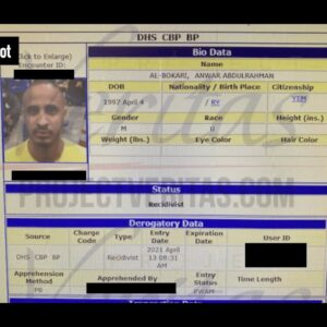 DHS LEAK: Known Associate of Yemeni Men on Terrorism Watchlist Apprehended Near Border