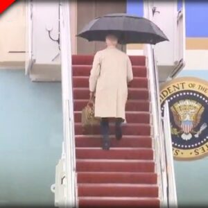 Biden Has ANOTHER Close Call while Walking Up Steps to Air Force One