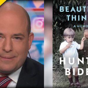 WEIRD. CNN's Brian Stelter FAWNS over Hunter Biden's New Book on Live TV