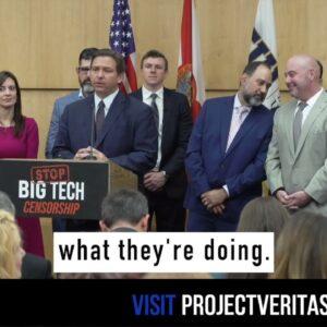 James O'Keefe Joins Florida Governor Ron DeSantis for Signing of Historic Big Tech Censorship Bill