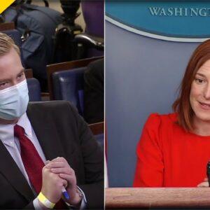 Reporter CORNERS Psaki on Biden Killing Keystone XL But Approving Russia's Pipeline