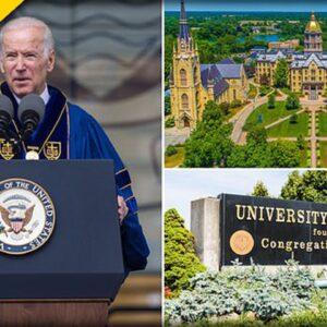 Notre Dame Grads Celebrate after Biden is a No-Show at their Graduation