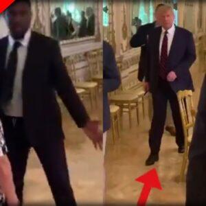BEAUTIFUL: Watch Grandma THWART Secret Service When She Spots Donald Trump At Mar-A-Lago