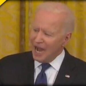 Angry Biden SLAMS His Fists Down on Podium, Sounds like a TYRANT during Prepared Speech