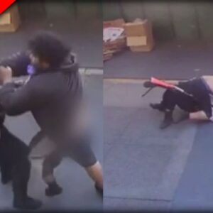 Hero Bystanders Save Female Officer after Man Attacks Her, Brings Her to the Ground