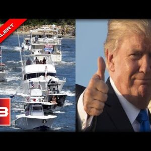 Trump INSTANTLY Cheers when he hears of massive MAGA flotilla outside of Mar-A-Lago