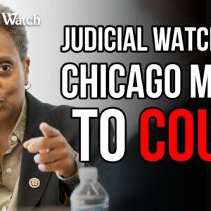 HAPPENING TODAY: Judicial Watch Sues Lori Lightfoot over Race Discrimination!