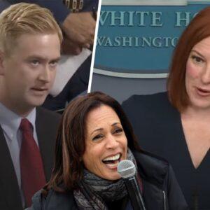 Reporter EXPOSES Kamala Harris as a Liar to Jen Psaki's Face
