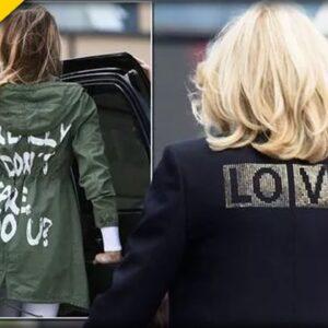 Jill Biden Throws Shade at Melania Trump with Tacky Message on Back of Her Jacket