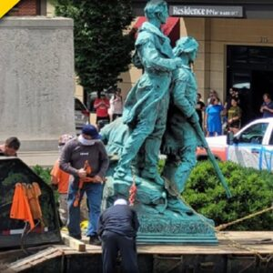 History Demolished in Charlottesville - Look what Statute they Just TORE DOWN