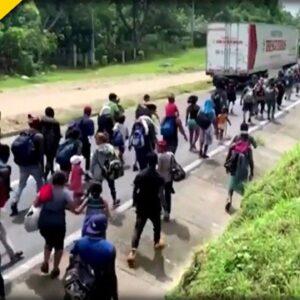 WATCH: Mexican Troops Break Up MASSIVE Migrant Caravan Making Its Way to US Border