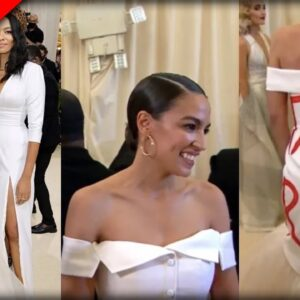 EVERYONE is MOCKING a MASKLESS AOC After They See What She Wore to the Met Gala