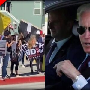 Look Who Showed Up To Meet Biden While Stumping For Newsom in California