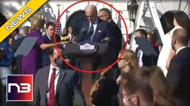 Jill Biden Forced To Intervene At Speech After Joe Biden Tries To Talk Into Microphone