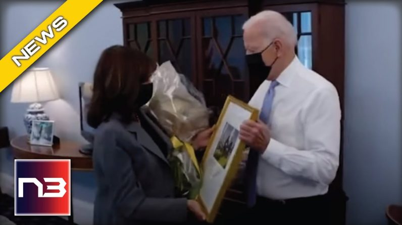 Kamala Harris SCREAMS When Joe Biden Walks In On Her During Her Birthday