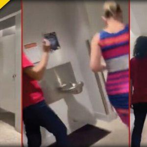 Sen. Kyrsten Sinema Stalked By Left-Wing Activists, Suddenly Hides In Bathroom In Wild Clip